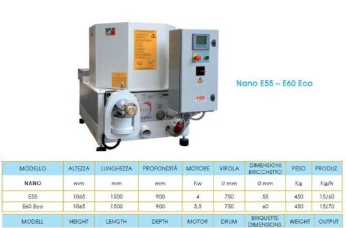 bricchettatrici nano e55