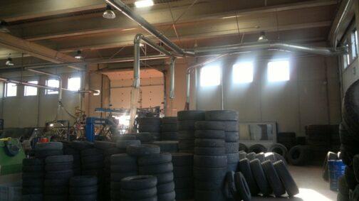 i nostri lavori riciclaggio pneumatici
