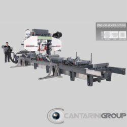Segatronchi orizzontale idraulica CTR 1000 h 60