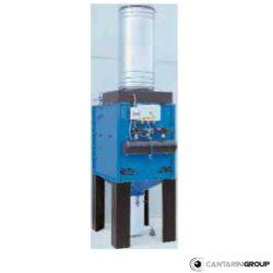 Aspiratore centrifugo fisso serie CC con tramoggia e contenitore polveri