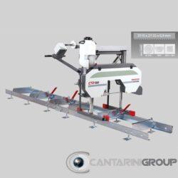 Segatronchi orizzontale manuale CTR 550