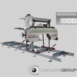Segatronchi orizzontale manuale CTR 750 GX