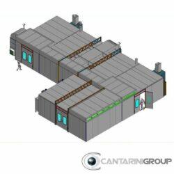 impianto di verniciatura presurizzato altezza interna da 3200mm a caldo