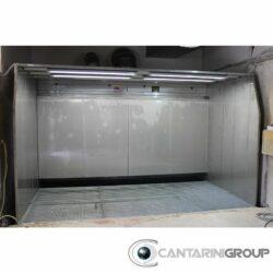 Cabina ad acqua a velo singolo inox con presurizzazione a caldo