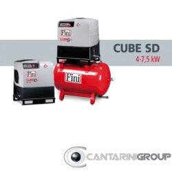 Compressori rotativi a vite FINI CUBE SD: DA 4 A 7,5 KW