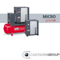 Compressori rotativi a vite FINI MICRO: da 2,2 a 5,5 kW