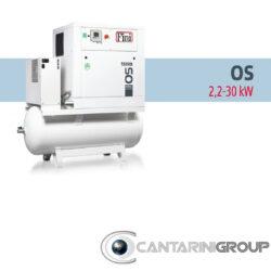 Compressori rotativi a vite FINI OS: DA 2,2 A 30 KW