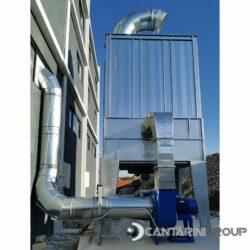 Impianto di aspirazione di un cuciniere 144 maniche h 2500 mm